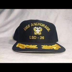 New Era Accessories - Vintage new era USS Anchorage LSD-36 SnapBack hat